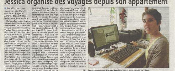 Article paru dans le journal Le Pays d'Auge le 03/07/12