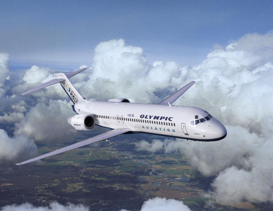 Formschön schwebt diese Boeing 717 der Olympic Aviation durch die Luft/Courtesy: Boeing