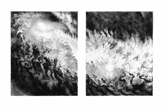 Matthias-Wyss-Kupferstich-Kaltnadel-Copper-Engraving-Drypoint-Cycle-2008–2009-Printing-Plates-20X25-Cm-N°3