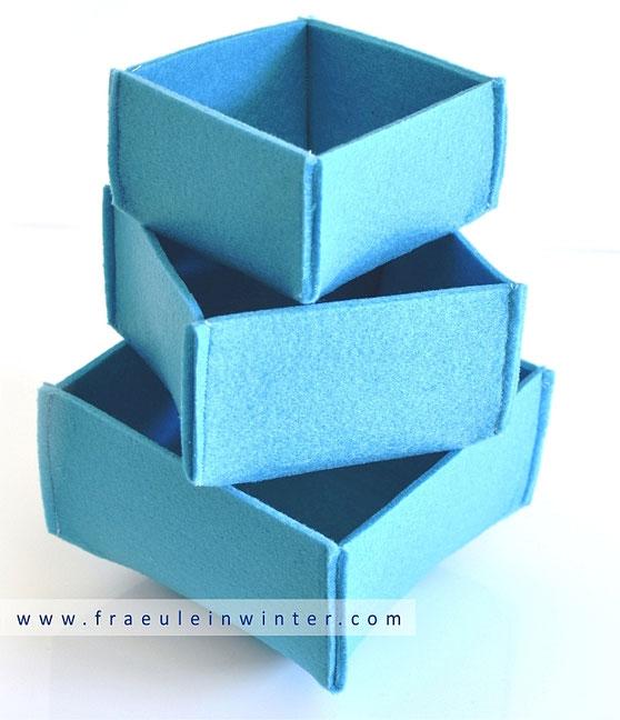 DIY Filzutensilo - Filzbox selber machen