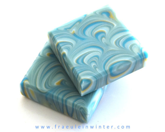 Peacock Swirl Soap