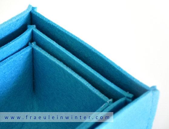 Einfache Filzbox - stapelbar