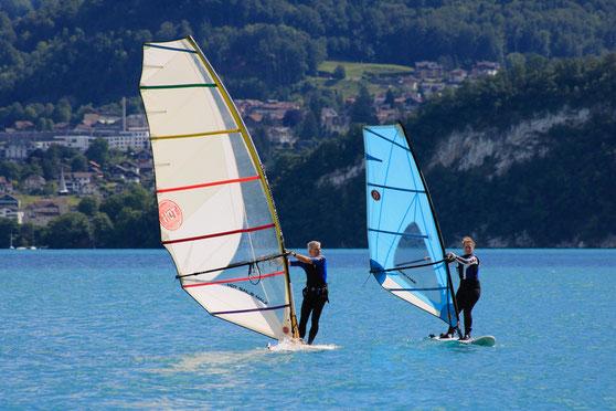 Privatkurse-Windsurfschule Badhuus du Lac Gunten