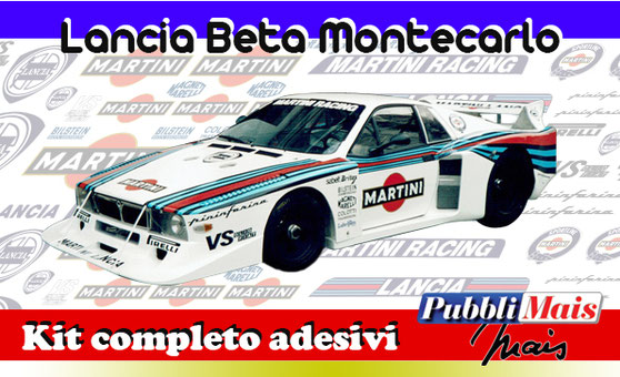 price cost kit stickers decals sponsor lancia beta montecarlo martini racing online shop pubblimais