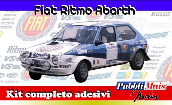fiat ritmo abarth rally 1975 bettega full kit sticker decal pirelli blue livery pubblimais shop