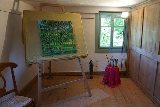 Vernissage 09.06.2018 / Acrylbilder und Keramik