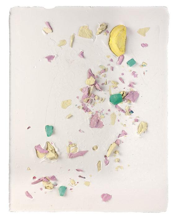 Plaster Painting #5, 2016, pigmented plaster on plaster, 52x40cm  Foto: Anna Lott Donadel