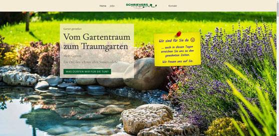 Website schrievers-gaerten.de