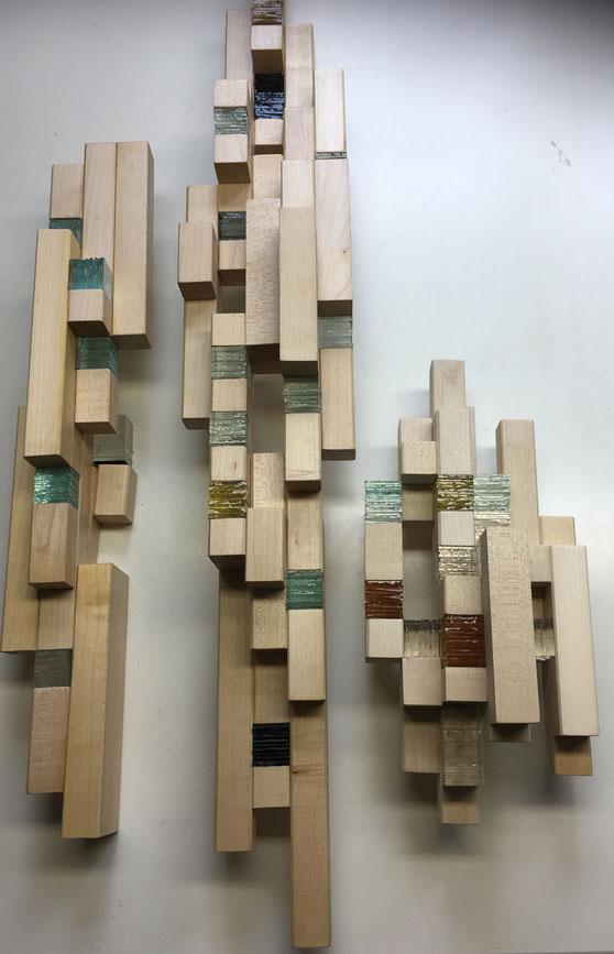 Licht-Holz-Objekt 2019, 65x85cm