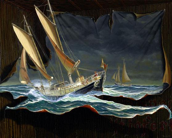 """The Dark Side"" 80x100cm, 2013"