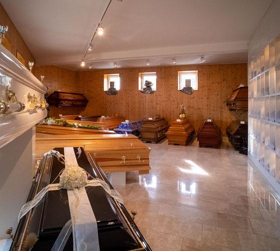 Aue Bestattungen - Ausstellungsraum