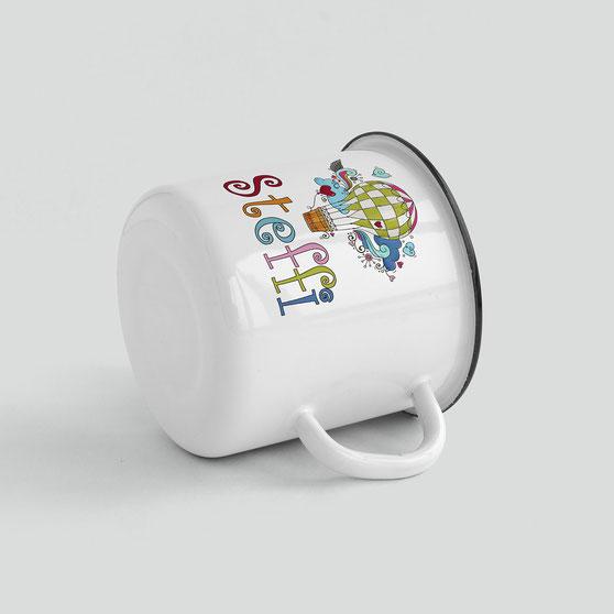 Emaillebecher personalisiert