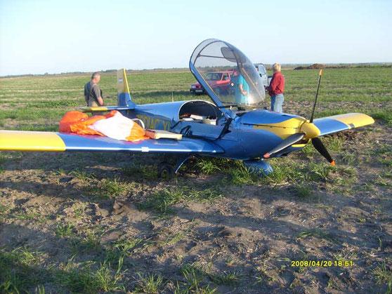 Ungarn, 20. April 2008, eine Zodiac fällt bei Stallübungen in 900 m Höhe ins Trudeln. Versuche der Piloten, das Trudeln auszuleiten, blieben erfolglos. Aktivierung des BRS in ca. 150 m Höhe, alles verläuft perfekt: ... Piloten unverletzt