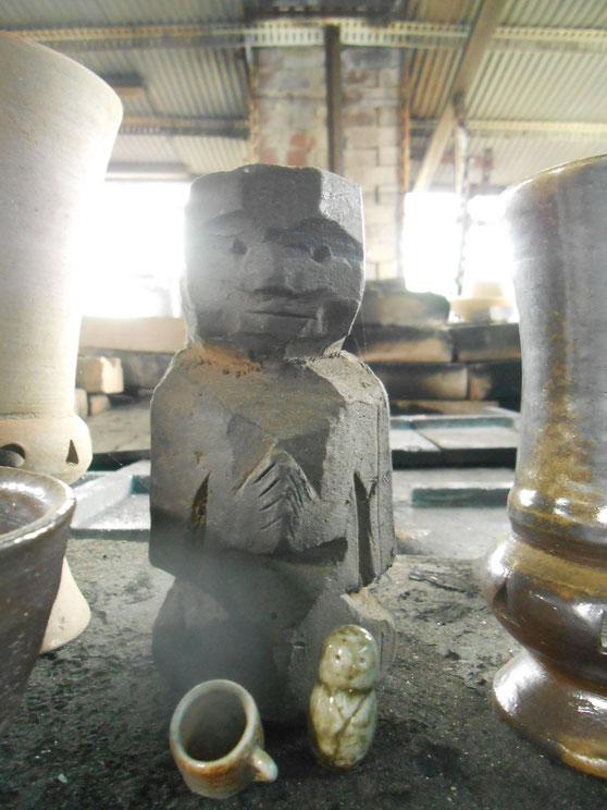 武州熊谷ひみこ窯 角仏像 炎の神様 小林夢狂 MukyoKobayashi いつもありがとう。ひみこ
