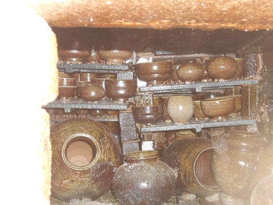窯焚き終了後 数日後 武州熊谷ひみこ窯