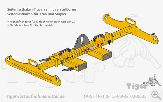 Lasttraverse für Kran- und Staplerbetrieb