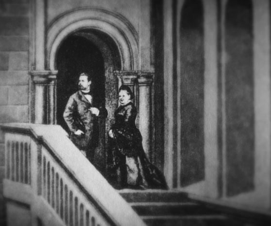 bsonders BAYERISCH - Der erste Gast im Schloss Neuschwanstein, Königin Marie und Ludwig II