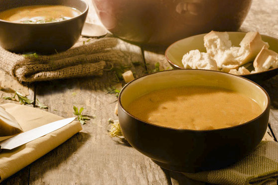 Südtiroler Brennsuppe Terner Bauernkuchl Bro' brusà  Rezept Ricetta - Gourmet Südtirol
