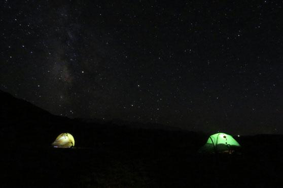 Derniere nuit au Kirghizistan sous un magnifique ciel etoile