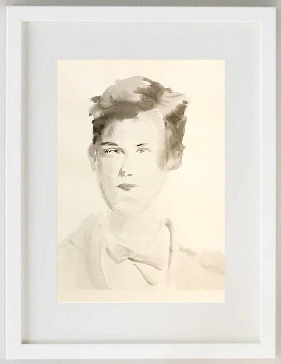"""22 / FRANCESCA BIANCHI LURATI, """"Sulle ali"""", 2018, tecnica mista e collage su cartoncino, 20 x 30 cm."""