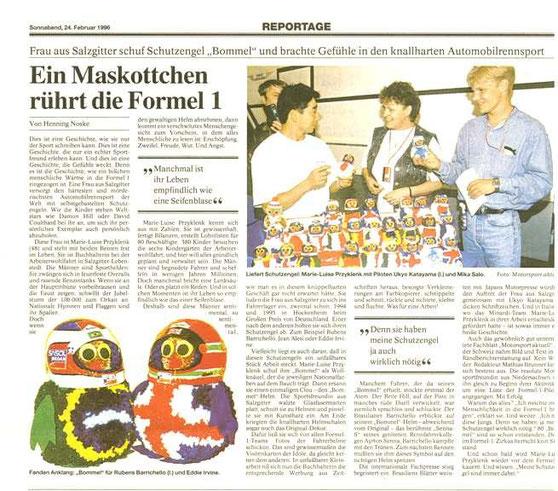 Bericht der Braunschweiger Zeitung im Februar 1996