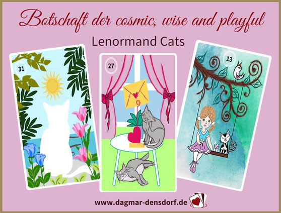 "Orakel Auflösung ""Botschaft der cosmic, wise and playful Lenormand Cats"""
