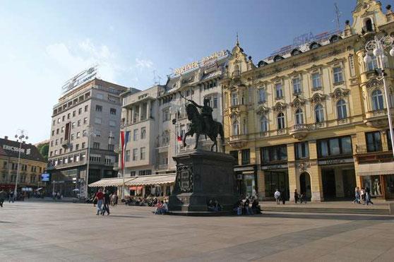Statue of Josip Jelačić, Ban Josip Jelačić Square, Zagreb, Cro