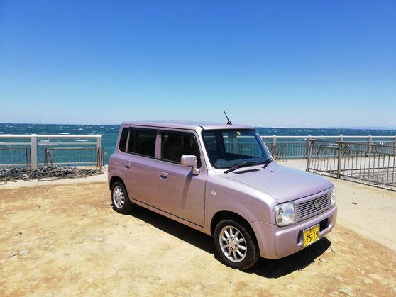 海辺の軽自動車