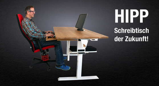 Schreibtisch der Zukunft - auch für gesundes Sitzen im Home Office!