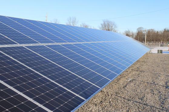 Eine Solar Freilandanlage