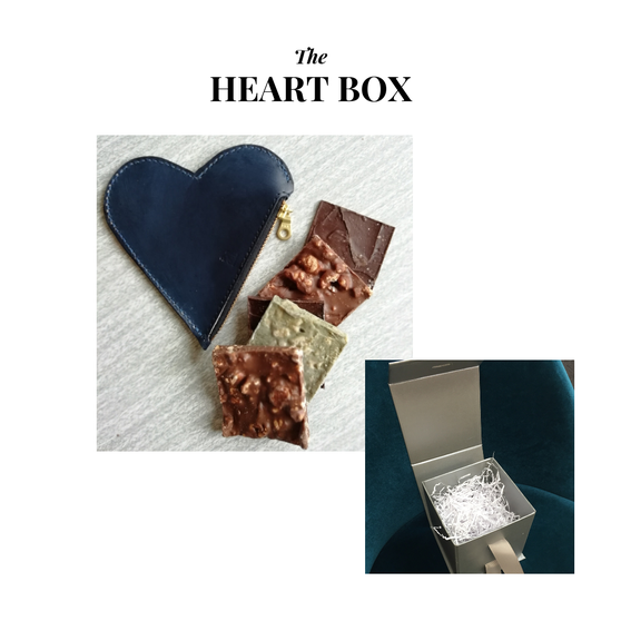 The Heart Box, Abaisse Chocolatier Tasters and Tori Lo Heart Coin Purse, The Northern Giftbox