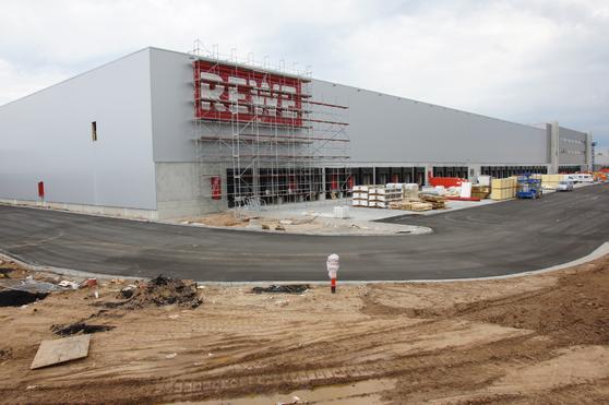 Tiefkühllager Logistikcenter Rewe BlowerDoor Test Leckagensuche Industrie Gewerbe