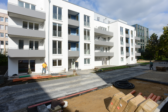 Mehrfamilienhaus Düsseldorf BlowerDoor Test
