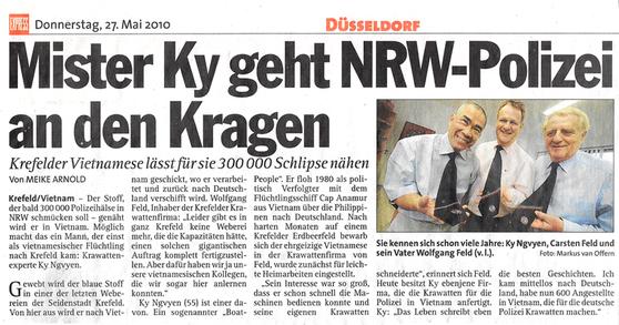 Pressebericht Polizeikrawatten Feld Krefeld