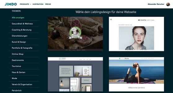JIMDO Creator-Seite erstellen