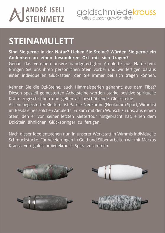 Steinamulett, Steinschmuck, Schmuck aus Stein