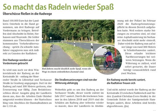 Mobilität Auto Radwege Niedersachsen