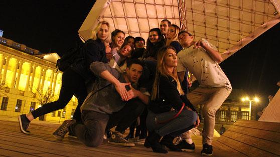 """La troupe """"Ah oui ? Ah bon !"""" de Łódź lors du 3ème Festival National de Théâtre francophone pour Lycéens à Poznań"""
