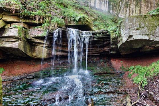 Mittelsinn,  Trettstein-Wasserfall bei Gräfendorf