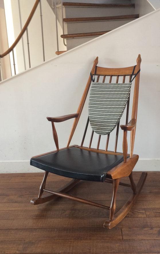 rocking-chair scandinave, rocking-chair à barreaux