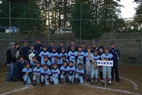 2013年12月 新山野球部集合写真