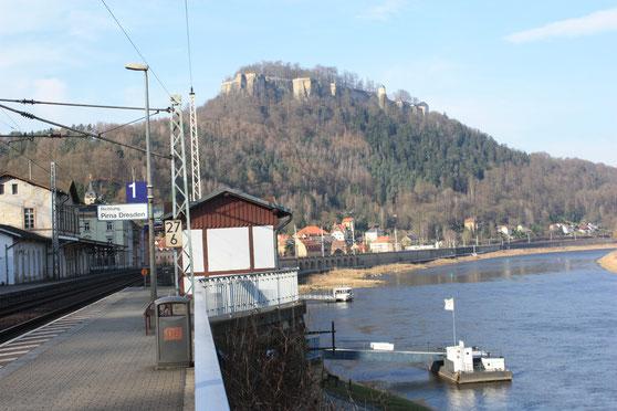 Königstein-Bahnhof und Festung