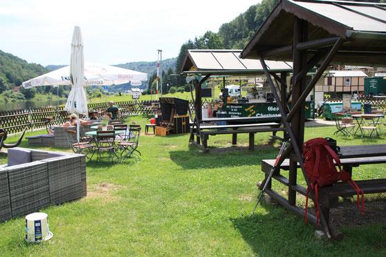Biergarten in Obervogelgesang