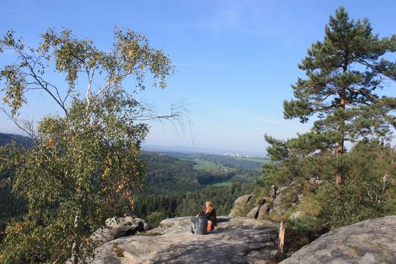 Blick vom Rauenstein nach Pirna