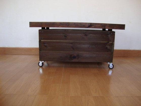 Mesa de madera al Autoclave (con ruedas o sin)