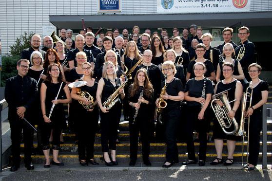 Das Moderne Blasorchester Oppau bei seinem Jahreskonzert 2019 (Bildrechte: MBO)