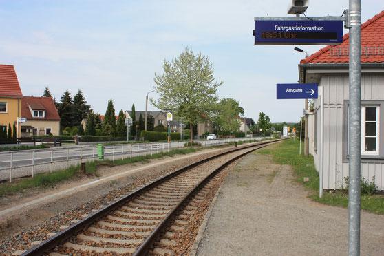 Bahnhof in Laußnitz