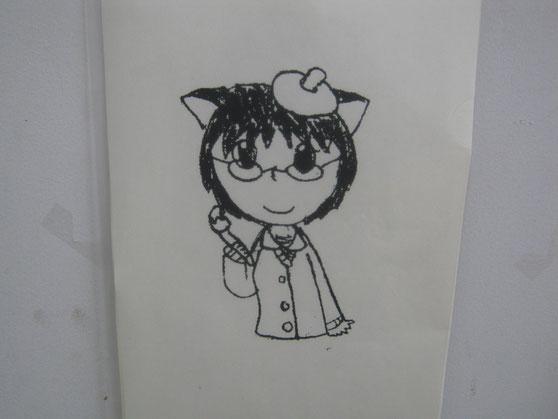 手描きの自画像(≧▽≦)
