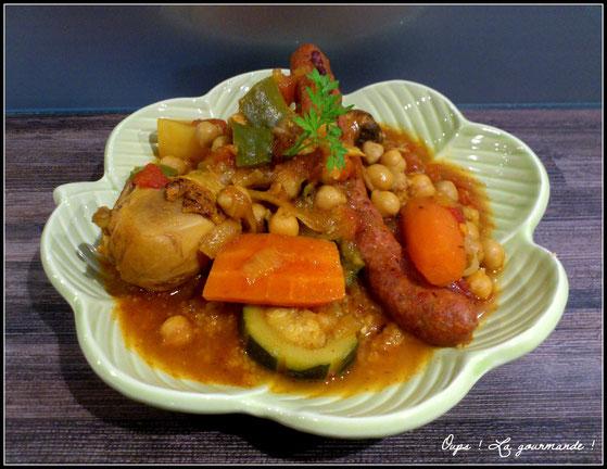 Le Couscous Au Poulet Et Merguez Oups La Gourmande Oo