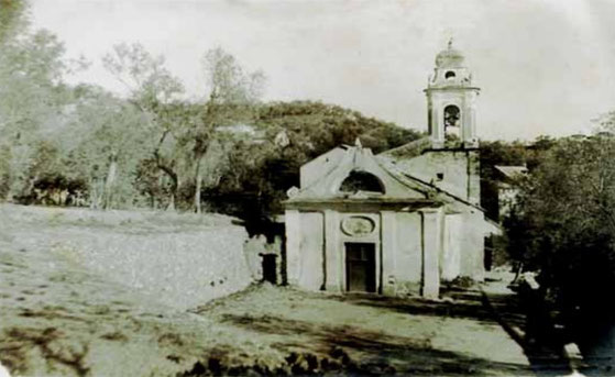 The old Church of San Dalmazio in Monticello demolished in 1922